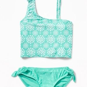NWT Old Navy One-Shoulder Knotted-Tie Swimsuit